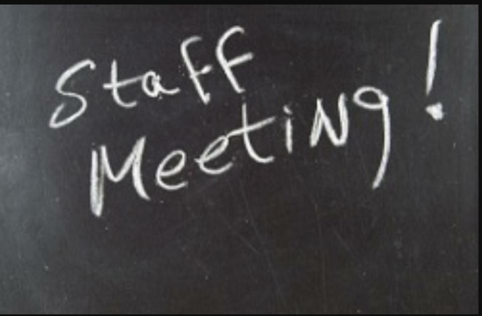 Staff Meeting St Colmans National School